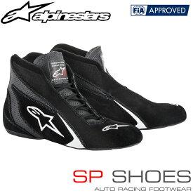 アルパインスターズ レーシングシューズ SP SHOES ブラック×ホワイト(12) FIA8856-2000公認モデル (2710518-12)