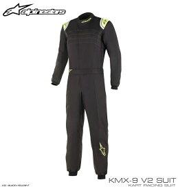 アルパインスターズ KMX-9 v2 SUIT ブラック×イエロー フルーオ(155) レーシングスーツ レーシングカート・走行会用 CIK-FIA Level2/N/2013-1公認 (3356019-155)