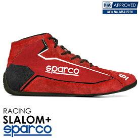 SPARCO スパルコ レーシングシューズ SLALOM+ (スラローム・プラス) レッド FIA8856-2018公認 (001274_RS)