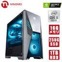 新品 NINGMEI ゲーミング PC デスクトップ パソコン LED ファンカラー選択可能【ホワイト 第九世代 Core i5-9400F/ Ge…