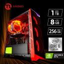 ゲーミング PC パソコン デスクトップ【Ryzen3 3100 /GTX1050Ti /メモリ8GB 大容量/SSD 180GB /Windows10】フォートナ…