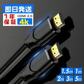 【2本でお買い得!】高品質 HDMIケーブル 1.5m/1m/2m/3m/5m 4K/60Hz 3D Ver.2.0b Nitendo switch/PS3/PS4/テレビ/カメラ/TV/ノートPC/モニター /XBOX ゲーム機対応 hdmi ケーブル パソコン スリム 細線 ハイスピード ディスプレイ 家庭用 業務用 ランケーブル イーサネット