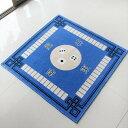 マージャンマット ポリエステル製 80×80cm (ブルー)