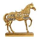置物 馬 ヨーロピアンアンティーク風 美しい装飾 ゴールドカラー