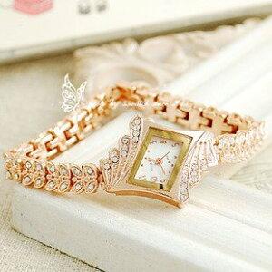 腕時計 ジュエリー風 ジルコニア (ホワイト)