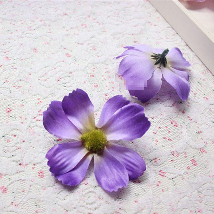 造花 コスモス 花のみ 7センチ 100個 (ダークパープル)