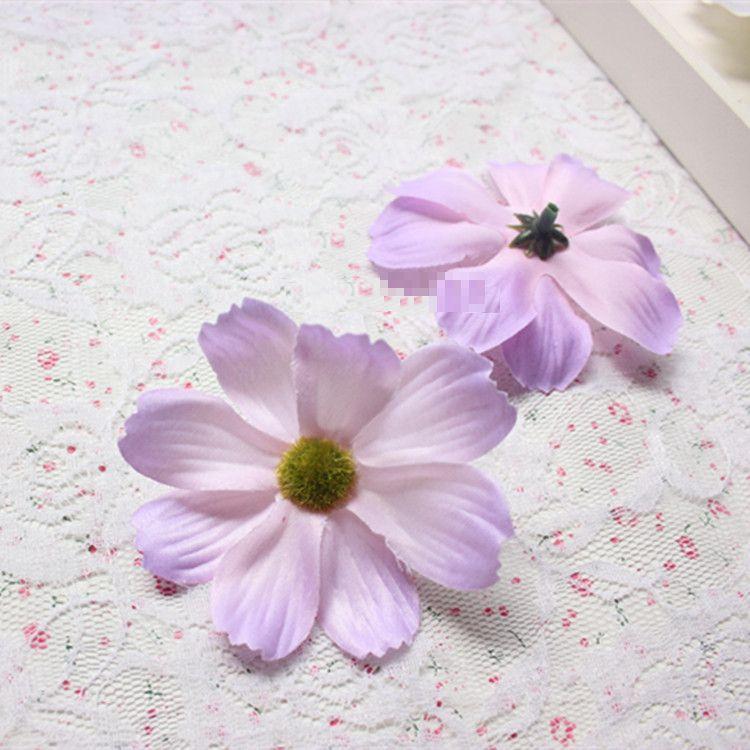 造花 コスモス 花のみ 7センチ 100個 (ライトパープル)