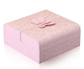 アクセサリーケース パステルカラー 蝶々 ロマンチック系 (ピンク)