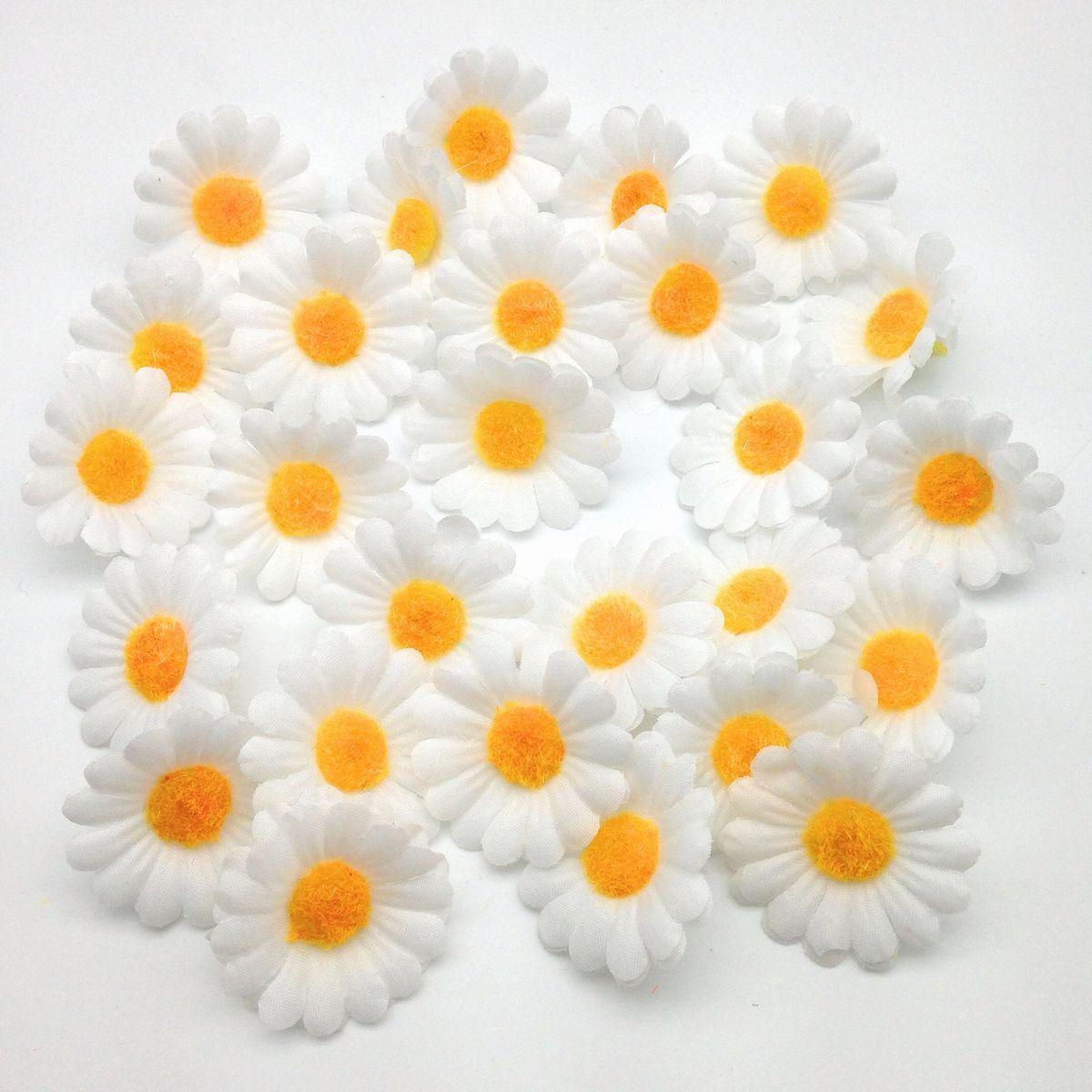 造花 雛菊 デージー ミニ 花のみ 4センチ 100個 (ホワイト