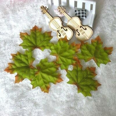 造花 楓 かえでの葉っぱ 7センチ 200枚セット (グリーン)