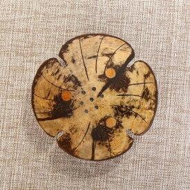 ソープディッシュ 南国風 椰子 外皮製 アジアン ナチュラル系 (フラワーAタイプ)