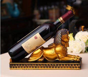 ワインホルダー エジプト スフィンクス (ゴールド)