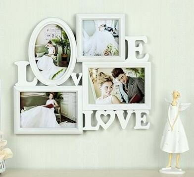 フォトフレーム おしゃれ LOVE&LOVE ホワイト