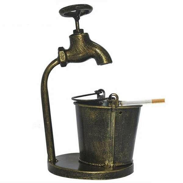 灰皿 水道の蛇口とバケツ 鉄製 アンティーク風