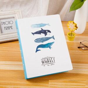 ノート ルーズリーフ バインダー クジラのイラスト マリン風 B5サイズ (Bタイプ)