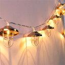 デコレーションライト LED 電球 ワイヤーオーナメント 金属製 10連 電池式 (B)