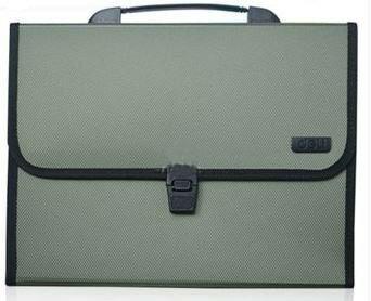ファイルケース バッグ型 シンプル A4 仕切り付き (モスグリーン)