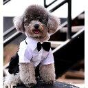 犬用 洋服 スーツ 礼服風 蝶ネクタイ付き (Lサイズ) 【送料無料】