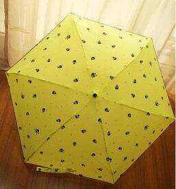 折り畳み傘 スカル ネオンカラー 5つ折り 晴雨兼用 (イエロー)