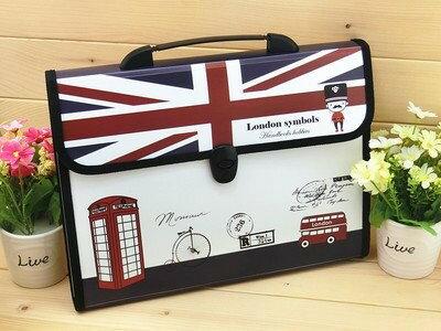 ファイルケース バッグ型 I LOVE LONDON A4 仕切り付き (Bタイプ)