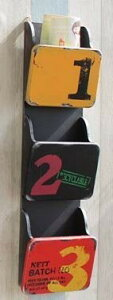 レターラック ビンテージ風 ロゴ入り 3段 木製