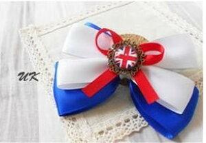 【在庫処分】ブローチ リボン 国旗ボタン付き (イギリス) 【送料無料】
