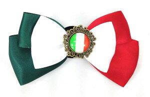 ブローチ リボン 国旗ボタン付き (イタリア) 【送料無料】