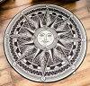 デザインマットエキゾチックな太陽オリエンタル(円形)