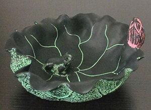 灰皿 和モダン シック 蓮の葉 蛙 (グリーン)