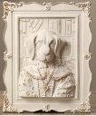 壁掛けオブジェ 肖像画風 宮廷の動物たち アンティーク調 (貴族のイヌ)
