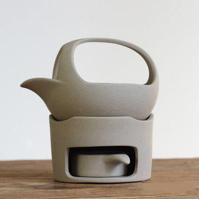 茶香炉 急須型 素焼き 陶磁器 シンプル (ベージュ)