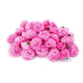 【在庫処分】造花 菊 ミニサイズ 花のみ 4センチ 100個 (ピンク)