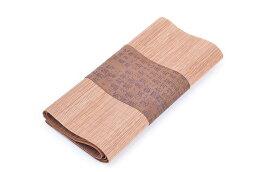 テーブルランナー 漢字柄 漢文風 和モダン 竹素材 (ブラウン、小 30×120cm) 【送料無料】
