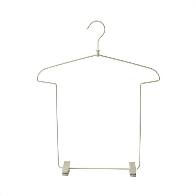 ハンガー Tシャツ型 上下収納 大人用 シンプル 3個セット