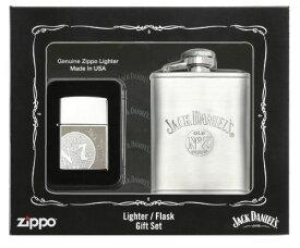 【並行輸入品】Jack Daniels Flask and Zippo Lighter Set