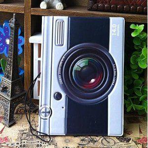パスポートケース レトロなカメラ型 立体的 【送料無料】