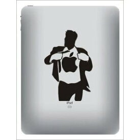 iPad ステッカー シール Superman 【送料無料】