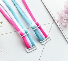 ブラストラップ 3本のライン カジュアル 異なる3色 (ライトブルー×ホワイト×ローズ) 【送料無料】