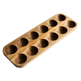 たまごケース 木のぬくもり 木製 ナチュラル キッチン雑貨 (12個)
