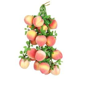 食品サンプル 吊るし果物 フルーツ 葉っぱつき 4本セット (桃)