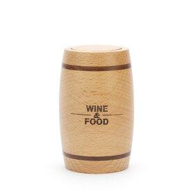 爪楊枝ケース ワイン樽型 英文字 プッシュ式 ナチュラル ハンドメイド