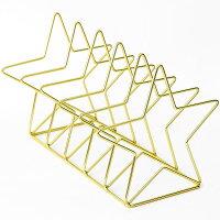 ブックエンド星型シンプル等間隔な仕切り北欧風金属製(ゴールド)