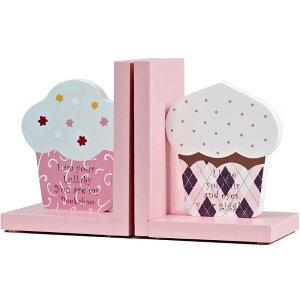 ブックエンド パステルカラー カップケーキ 2個セット