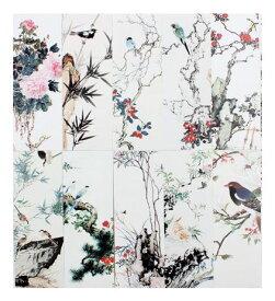しおり 美しい絵画風 紙製 30枚セット (四季の草花と鳥) 【送料無料】