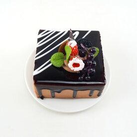 食品サンプル スクエア型ケーキ フルーツデコレーション (A)