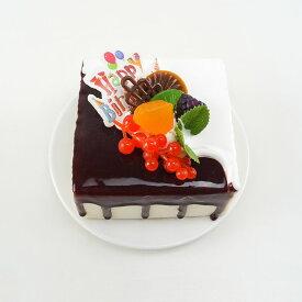 食品サンプル スクエア型ケーキ フルーツデコレーション (D)