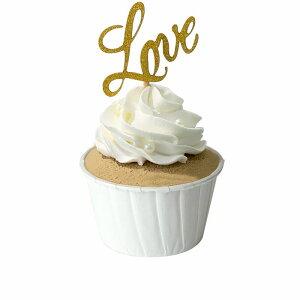 食品サンプル カップケーキ 生クリーム トッピング (LOVE)