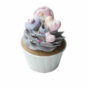 食品サンプル カップケーキ 黒ゴマ風生クリーム お菓子のトッピング (Cタイプ)