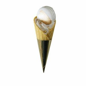 食品サンプル ソフトクリーム ワッフルコーン ゴールドのトッピング (Cタイプ)