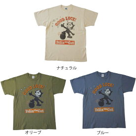 トイズマッコイ(TOYSMcCOY)★半袖Tシャツ MILITARY TEE FELIX THE CAT GOOD LUCK! TMC2001